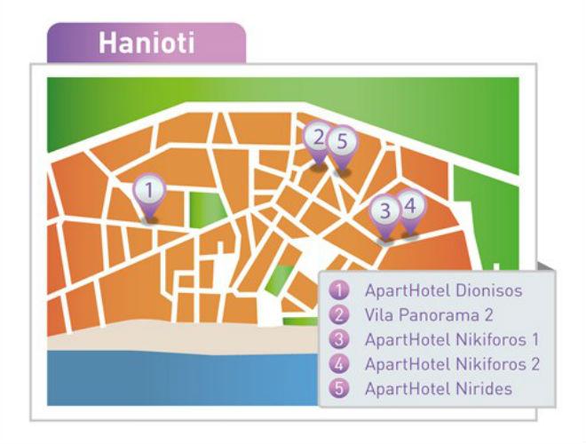 mapa haniotija grcka Hanioti   mapa   Amos travel mapa haniotija grcka
