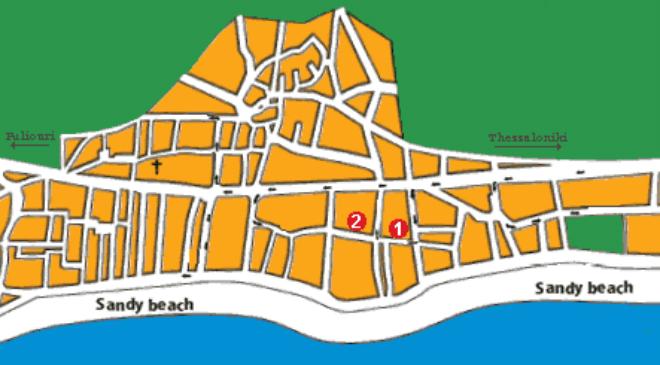 Pefkohori Mapa Amos Travel