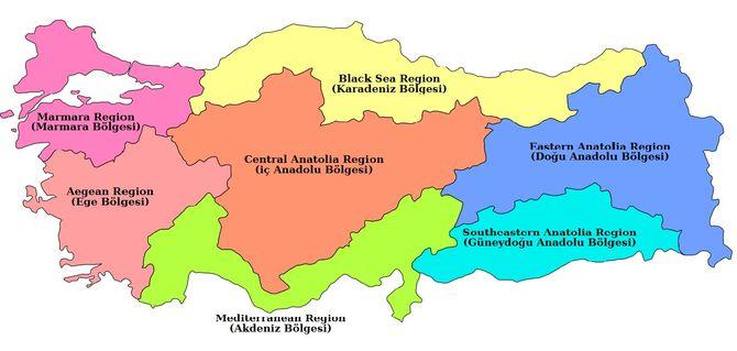 Oblasti U Turskoj Amos Travel