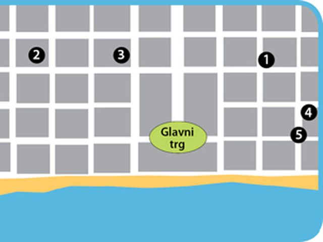 Mapa Dionisos beach - broj 5 - Apartmani Zorbas
