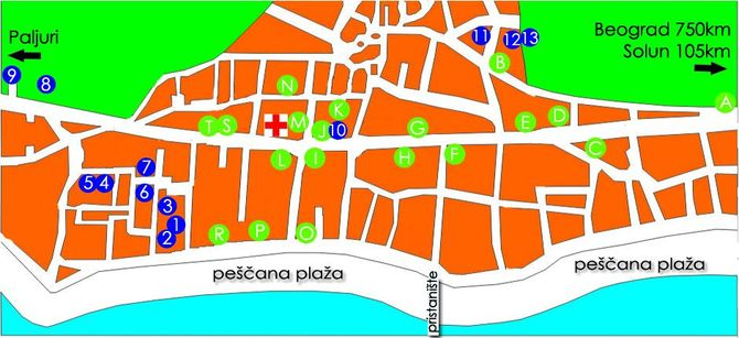 Mapa Pefkohorija - broj 5 -   Apartmani Rigas 2