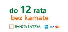 Plaćanje karticama Banca Intese do 12 rata bez kamate